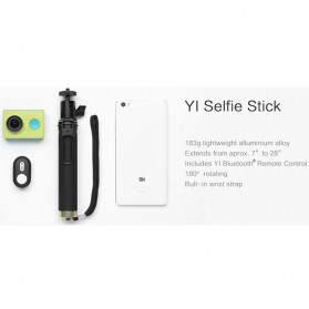 Xiaomi Yi Selfie Stick Monopod with Bluetooth Remote for Xiaomi Yi / Xiaomi Yi 2 4K / Smartphone (Replika 1:1) - Black - 9