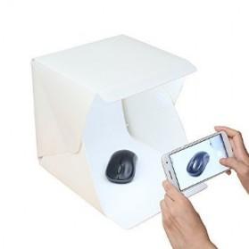 Photo Studio Mini Magnetic dengan Lampu LED Size Small - White - 3