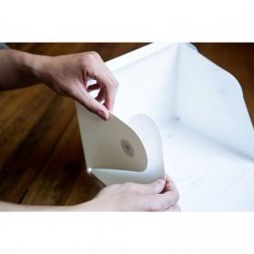 Photo Studio Mini Magnetic dengan Lampu LED Size Small - White - 4