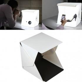 Photo Studio Mini Magnetic dengan Lampu LED Size Small - White - 5