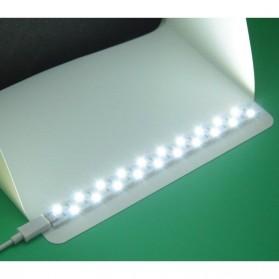 Photo Studio Mini Magnetic dengan Lampu LED Size Small - White - 6