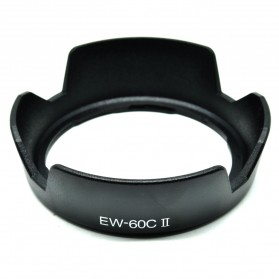 Lens Hood Lotus Style for Canon Camera EW-60C II - Black