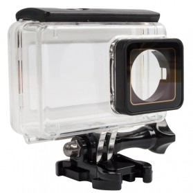 PULUZ Underwater Touchscreen Waterproof Case 40m for Xiaomi Yi 2 4K / Lite / Discovery - AZ160 - Black - 4