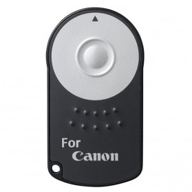 RC-6 Wireless IR Camera Remote Controller for Canon Rebel XT XTi T1i T2I T3i 5D Mark II - Black - 2