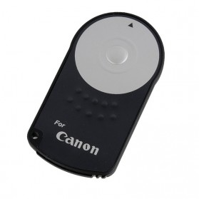 RC-6 Wireless IR Camera Remote Controller for Canon Rebel XT XTi T1i T2I T3i 5D Mark II - Black - 3