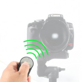 RC-6 Wireless IR Camera Remote Controller for Canon Rebel XT XTi T1i T2I T3i 5D Mark II - Black - 5