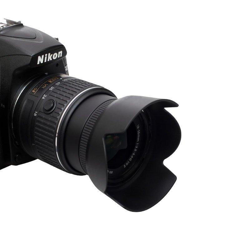 Lens hood lotus style for nikon camera hb 69 black 3