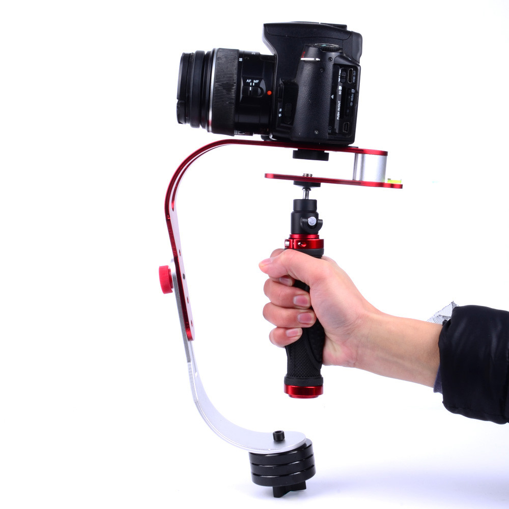 Taffware Handheld Stabilizer Kamera DSLR GoPro Xiaomi Yi - W01 - Red