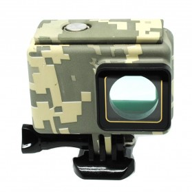 Underwater Waterproof Case Camouflage Touch 45m for Xiaomi Yi 2 4K - Camouflage