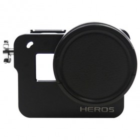 CNC Aluminium Protective Case for GoPro Hero 5/6 - Black