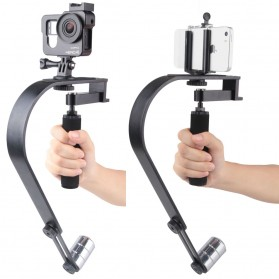 Vodool Handheld Curve Stabilizer Multifungsi for GoPro / DSLR / iPhone - Black