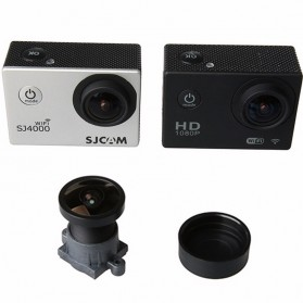 Lensa Replacement 1600W 160 Degree Wide Angle for SJCAM - Black - 4