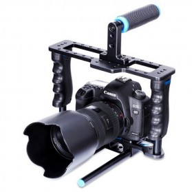 Yelangu Rig Stabilizer Kamera DSLR 15mm Rod - 5D2 - Black