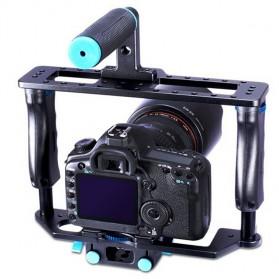 YELANGU Rig Stabilizer Kamera DSLR 15mm Rod - 5D2 - Black - 2