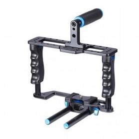 YELANGU Rig Stabilizer Kamera DSLR 15mm Rod - 5D2 - Black - 3