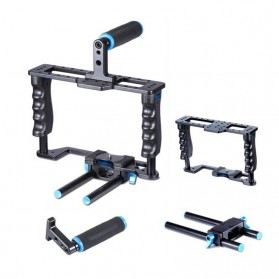 YELANGU Rig Stabilizer Kamera DSLR 15mm Rod - 5D2 - Black - 4