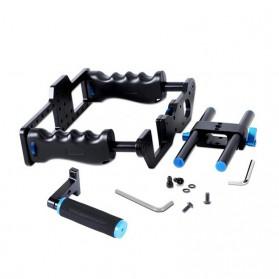 YELANGU Rig Stabilizer Kamera DSLR 15mm Rod - 5D2 - Black - 5