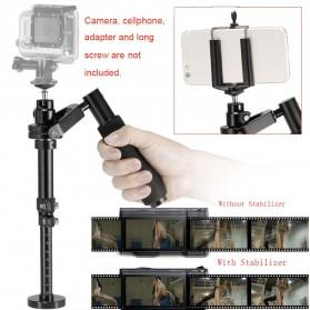 Stabilizer Kamera Portable untuk GoPro Xiaomi SJCAM - Black