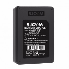 Charger Baterai SJCAM SJ6 Legend Dual Slot - Black - 4