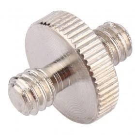 Jadkinsta Hot Shoe 1/4 Male to 1/4 Male Thread Adapter - RV81 - Silver - 5