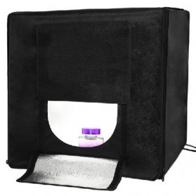 Photo Studio 40 x 40 cm dengan 86 LED - Black