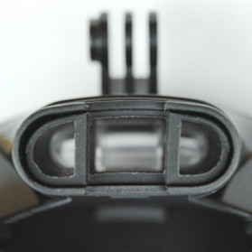 Snorkel Full Face Size L/XL dengan Mount GoPro Xiaomi Yi - Black - 9