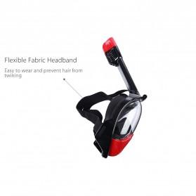 Snorkel Full Face Size L/XL dengan Mount GoPro Xiaomi Yi - Black - 6