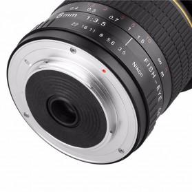 Kelda Lensa Kamera Fish Eye Fixed Focus 8mm f/3.5 untuk Nikon - Black - 5