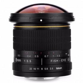 Kelda Lensa Kamera Fish Eye Fixed Focus 8mm f/3.5 untuk Nikon - Black - 6