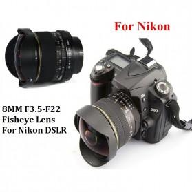 Kelda Lensa Kamera Fish Eye Fixed Focus 8mm f/3.5 untuk Nikon - Black - 9
