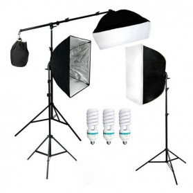 TaffSTUDIO Photography Foto Studio Lighting Kit Youtube Vlog - D-HZ7 - Black
