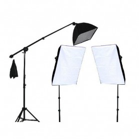 TaffSTUDIO Photography Foto Studio Lighting Kit Youtube Vlog - D-HZ7 - Black - 2