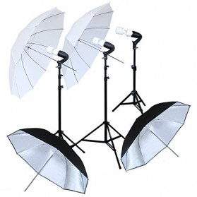 Portrait Foto Studio Day Light Lighting Kit Youtube Vlog - K9 - Black