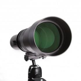Kelda Lensa Kamera Telephoto Manual 650-1300mm F/8-16 T-mount - Black - 7