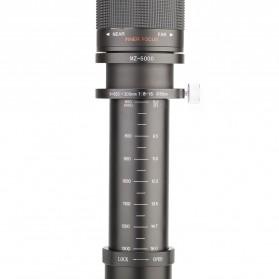 Kelda Lensa Kamera Telephoto Manual 650-1300mm F/8-16 T-mount - Black - 12