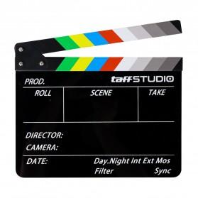 TaffSTUDIO Profesional Clapper Board Colorful Acrylic - TS-3EL - Black - 6