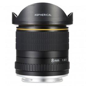 LIGHTDOW Lensa Kamera Fish Eye Fixed Focus 8mm f/3.5 for Canon - Black - 2