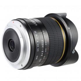 LIGHTDOW Lensa Kamera Fish Eye Fixed Focus 8mm f/3.5 for Canon - Black - 3