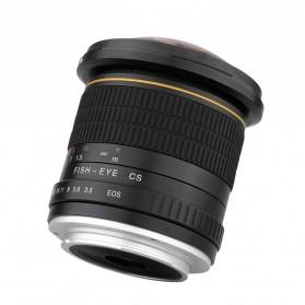 LIGHTDOW Lensa Kamera Fish Eye Fixed Focus 8mm f/3.5 for Canon - Black - 4