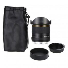 LIGHTDOW Lensa Kamera Fish Eye Fixed Focus 8mm f/3.5 for Canon - Black - 8