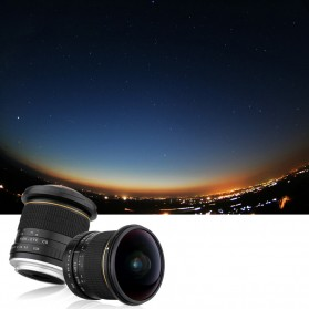 LIGHTDOW Lensa Kamera Fish Eye Fixed Focus 8mm f/3.5 for Canon - Black - 11