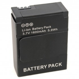 Battery Replacement 1600mAh for GoPro HD Hero 3 - AHDBT-201/301 - Black - 2