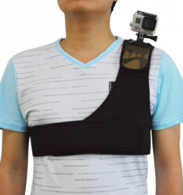 Shoulder Strap Mount for GoPro Xiaomi Yi - Black - 1