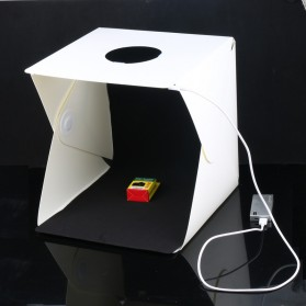 Photo Studio Mini Magnetic dengan Lampu LED Size Medium - White - 1