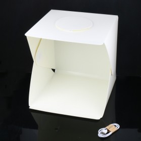 Photo Studio Mini Magnetic dengan Lampu LED Size Medium - White - 3