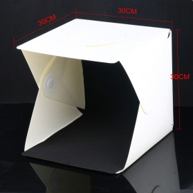 Photo Studio Mini Magnetic dengan Lampu LED Size Medium - White - 4