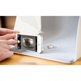 Photo Studio Mini Magnetic dengan Lampu LED Size Medium - White - 6