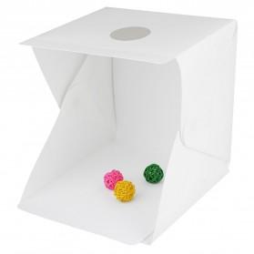 Photo Studio Foto Mini Lipat dengan Lampu LED Size Large - White