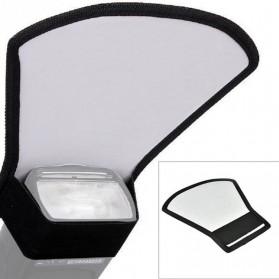 Flash Diffuser Reflector Universal untuk SLR - Black - 3