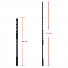 Tiang Boom Pole Microphone 2.5 Meter - NW-7000 - Black - 3